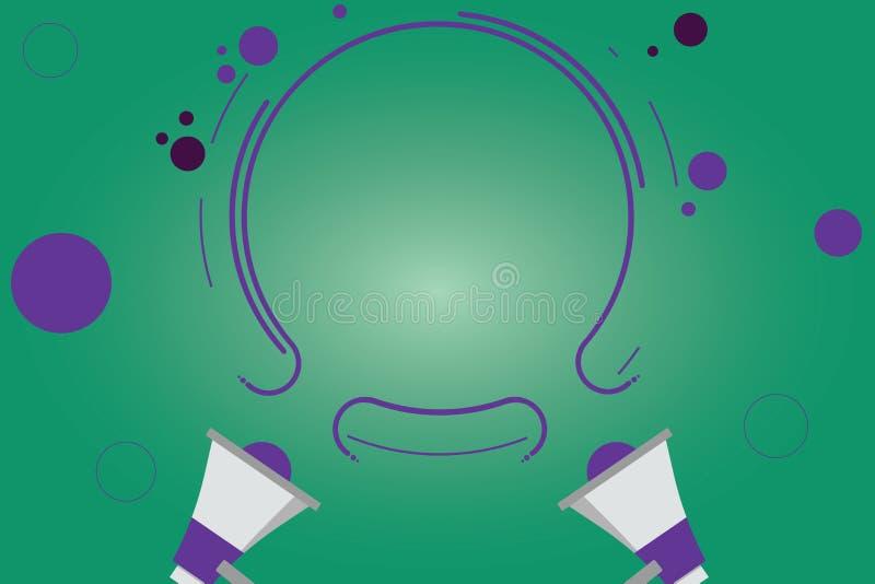 Anuncio del negocio del concepto del negocio del diseño para el megáfono y la circular sociales vacíos del anuncio dos de los med libre illustration