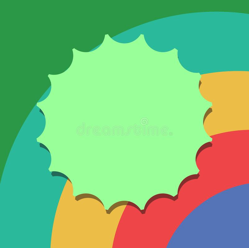 Anuncio del negocio del concepto del negocio del diseño para el sello social vacío del espacio en blanco del anuncio de los medio stock de ilustración