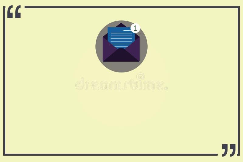 Anuncio del negocio del concepto del negocio del diseño para el sobre abierto del anuncio social vacío de los medios de las bande libre illustration