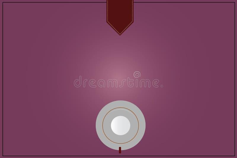 Anuncio del negocio del concepto del negocio del diseño para la opinión de top social vacía del platillo de la taza de café del a stock de ilustración