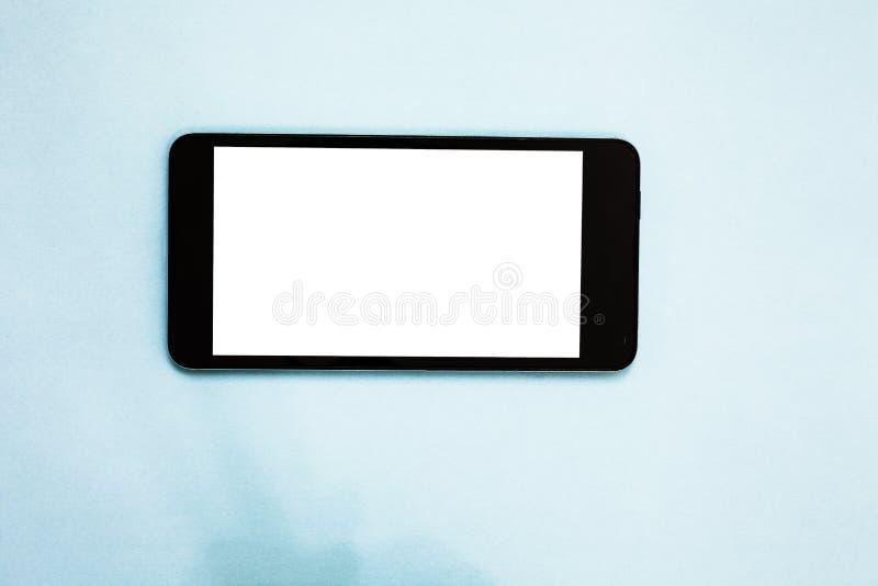 Anuncio del negocio del concepto del negocio del diseño para la pantalla blanca social vacía del teléfono celular del anuncio de  imagenes de archivo