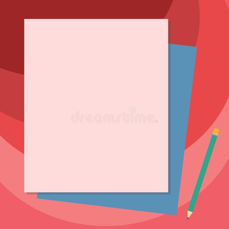 Anuncio del negocio del concepto del negocio del diseño para la pila social vacía del anuncio de los medios de las banderas de la libre illustration