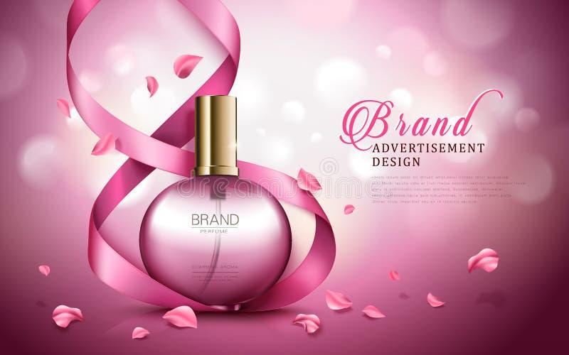 Anuncio del perfume del aroma stock de ilustración