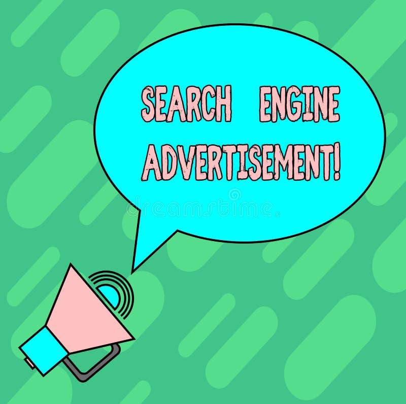 Anuncio del Search Engine de la escritura del texto de la escritura Significado del concepto que coloca los anuncios en línea en  libre illustration