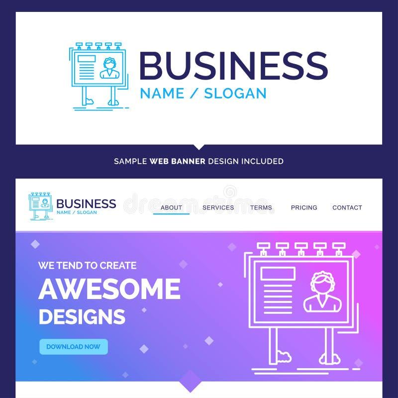 Anuncio hermoso de la marca del concepto del negocio, publicidad ilustración del vector