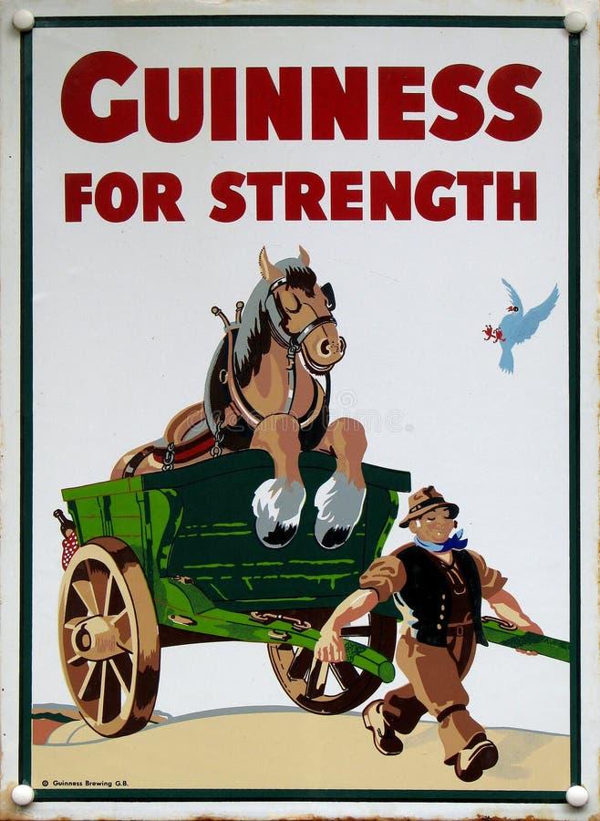Anuncio viejo - Guinness imagen de archivo libre de regalías