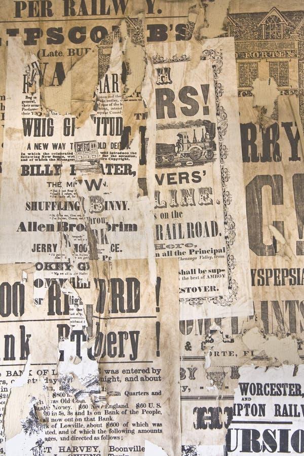 Anuncios de la vendimia. fotografía de archivo libre de regalías
