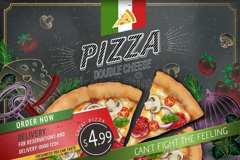 Anuncios sabrosos de la pizza libre illustration