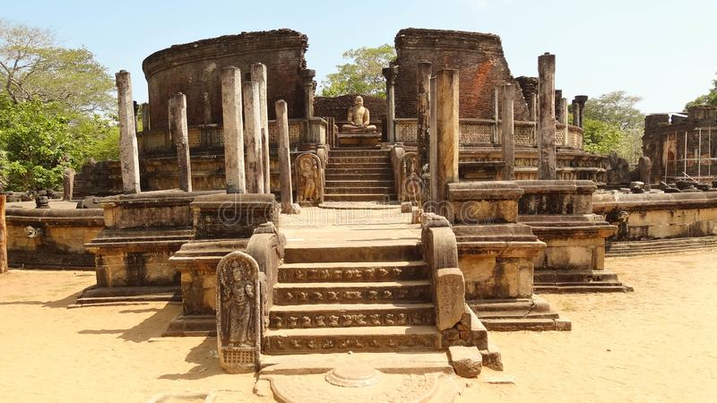 Ruins of royal ancient city Polonnaruwa, Sri Lanka royalty free stock photos