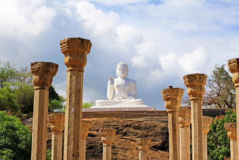 Anuradhapura Mihintale Buddha Statue, Sri Lanka UNESCO World Heritage. Mihintale is a mountain peak near Anuradhapura in Sri Lanka. This large stupa known as the stock images