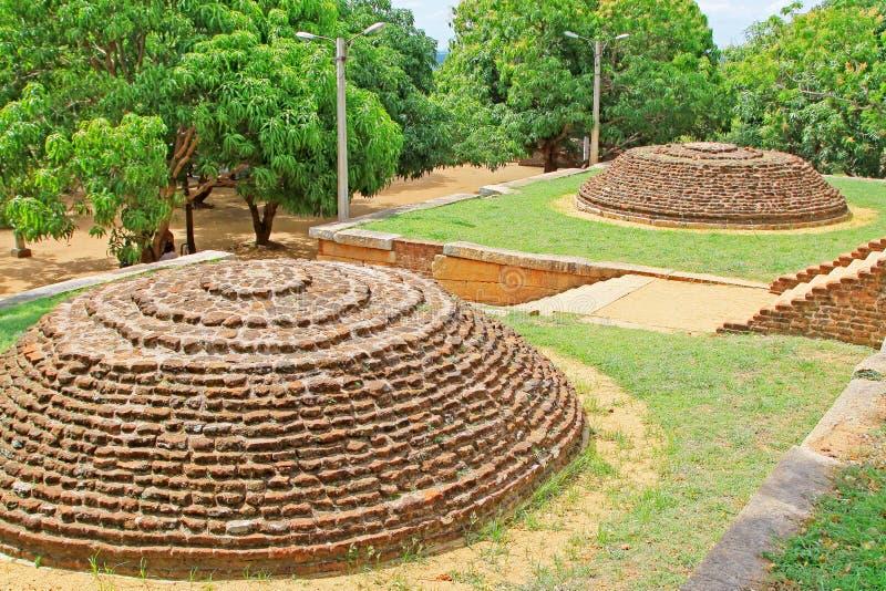 Anuradhapura Mihintale Conference Hall, Sri Lanka UNESCO World Heritage. Mihintale is a mountain peak near Anuradhapura in Sri Lanka. This large stupa known as royalty free stock photo