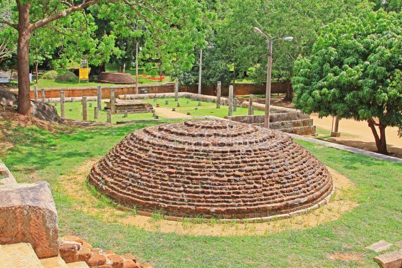 Anuradhapura Mihintale Conference Hall, Sri Lanka UNESCO World Heritage. Mihintale is a mountain peak near Anuradhapura in Sri Lanka. This large stupa known as stock image