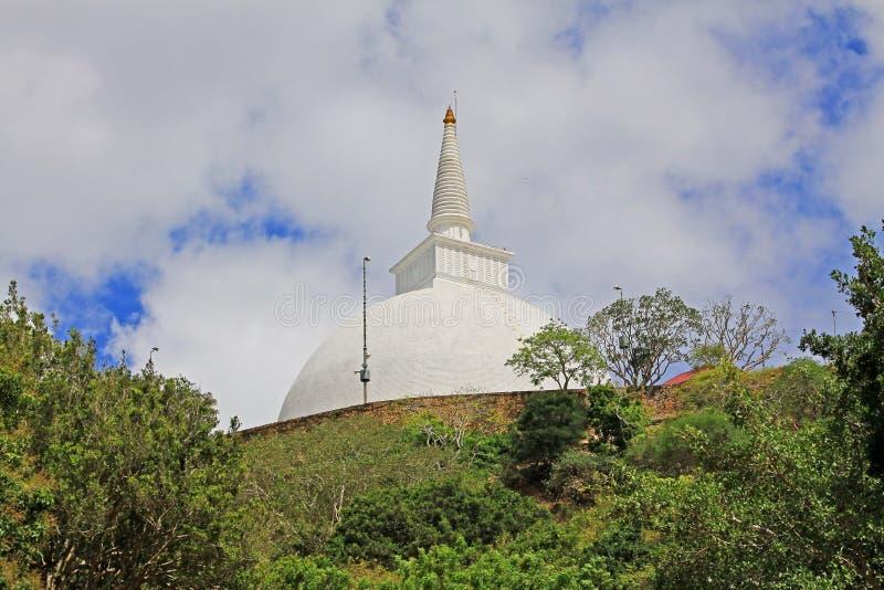Anuradhapura Mihintale Maha Stupa, Sri Lanka UNESCO World Heritage. Mihintale is a mountain peak near Anuradhapura in Sri Lanka. This large stupa known as the royalty free stock photography