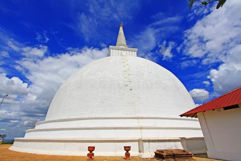 Anuradhapura Mihintale Maha Stupa, Sri Lanka UNESCO World Heritage. Mihintale is a mountain peak near Anuradhapura in Sri Lanka. This large stupa known as the stock photo