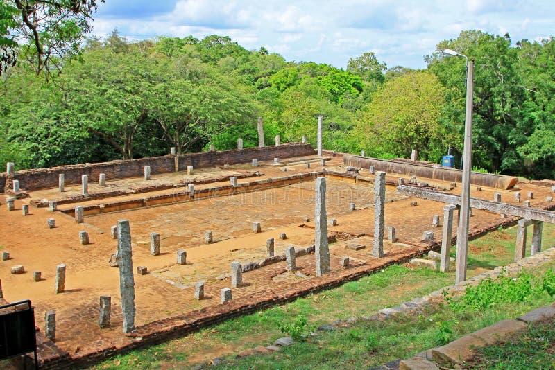 Anuradhapura Mihintale Refectory, Sri Lanka UNESCO World Heritage stock photography