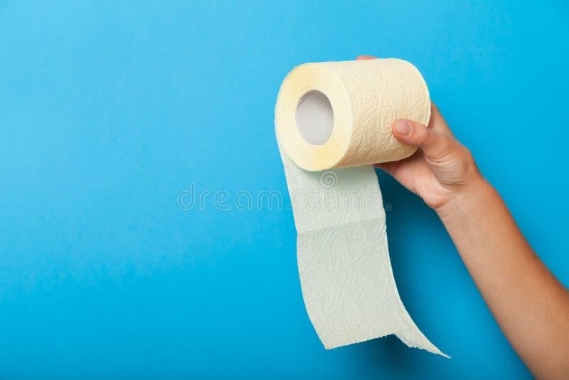 Anus diarrhea concept, paper toilet roll. Hemorrhoids.  royalty free stock photos