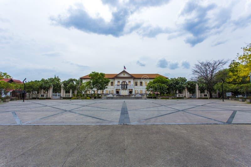 ` Anusawari山姆Kasat三国王在清迈`的Monument Monument 免版税图库摄影
