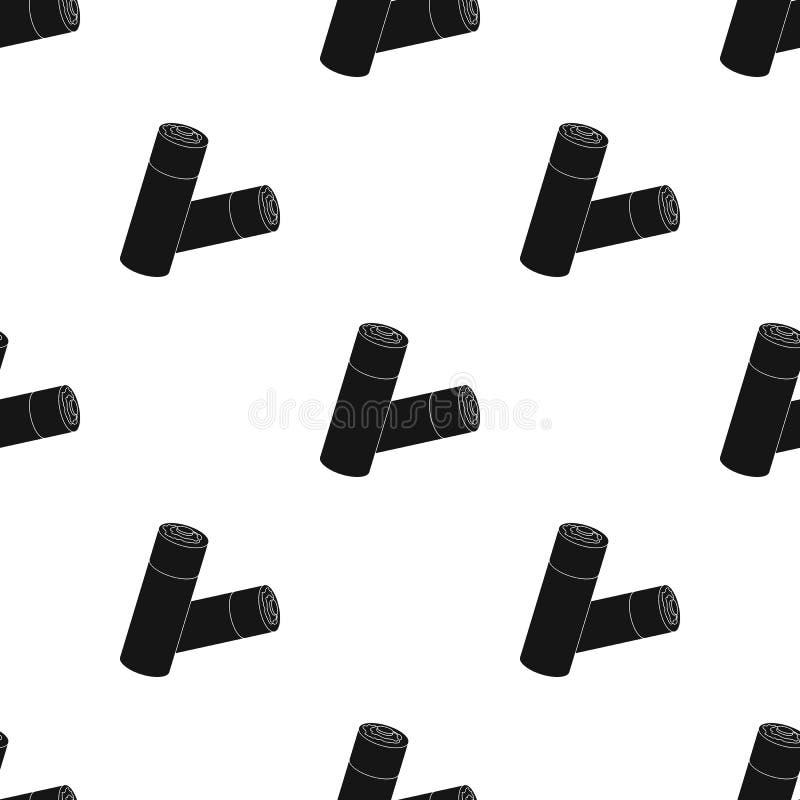 Använd batterisymbol i svart stil som isoleras på vit bakgrund royaltyfri illustrationer