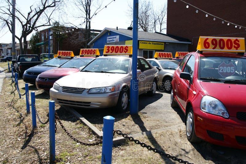 använd bilförsäljning royaltyfria foton