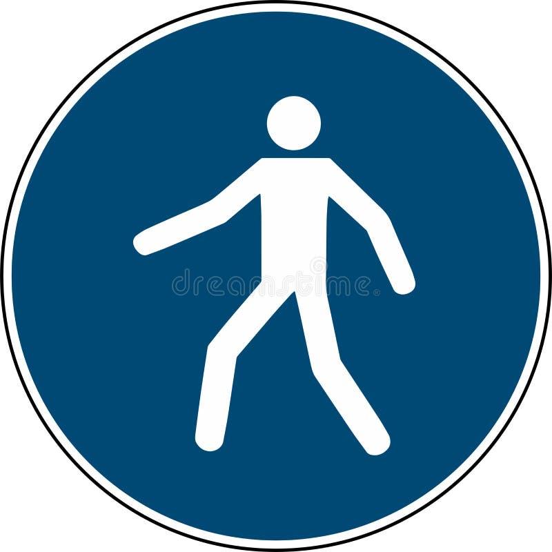 Använd denna gångbana - obligatoriskt teckenbuller 7010 royaltyfri illustrationer