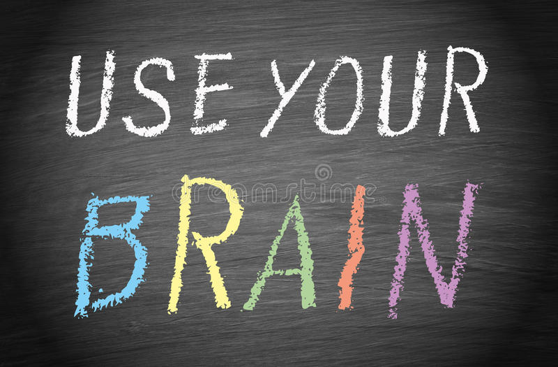 Använd din hjärna royaltyfria foton
