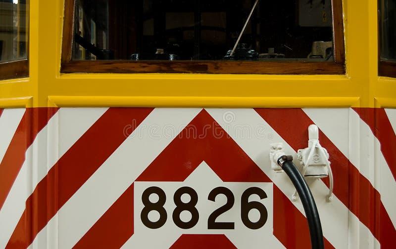använd gammal spårvagn för underhåll fotografering för bildbyråer
