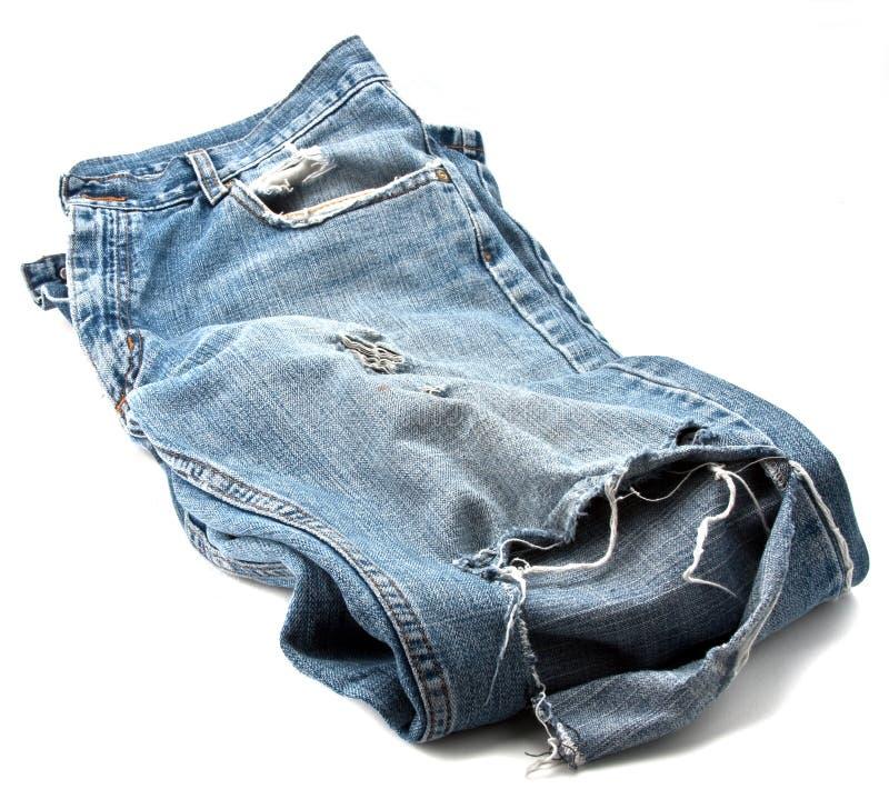 använd jeans arkivbild