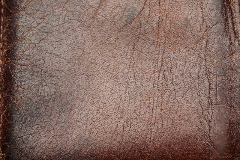 Använd läderyttersida för mörk svart, abstrakt textur arkivfoto