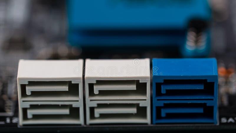 Använd sikt för PCmoderkortmakro arkivfoto