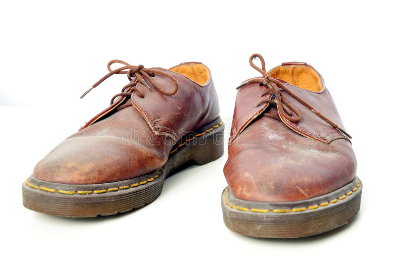 använd sko arkivfoton