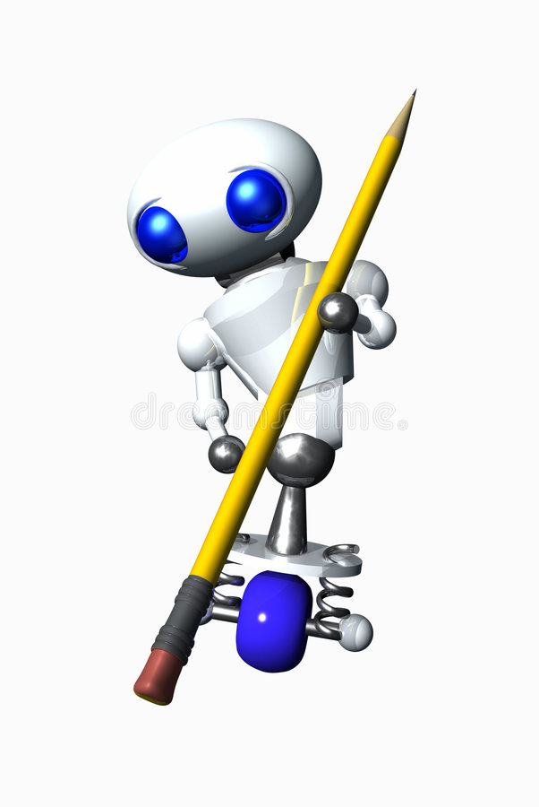 använda för radergummirobot royaltyfri illustrationer