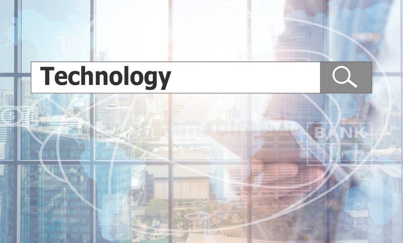 Använda textsökande teknologi arkivbilder