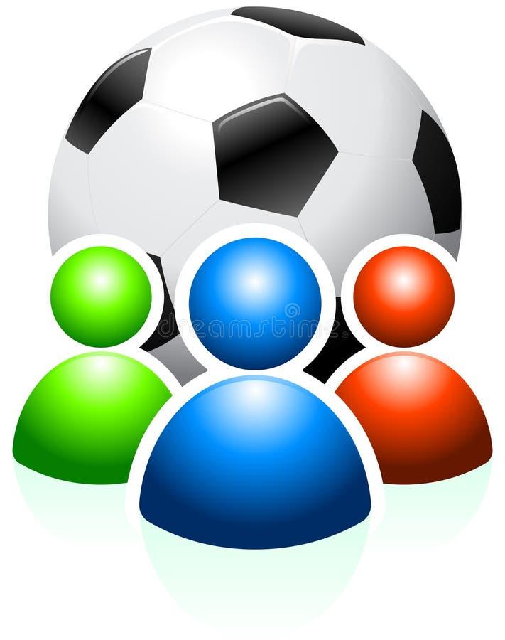 användare för bollgruppfotboll royaltyfri illustrationer