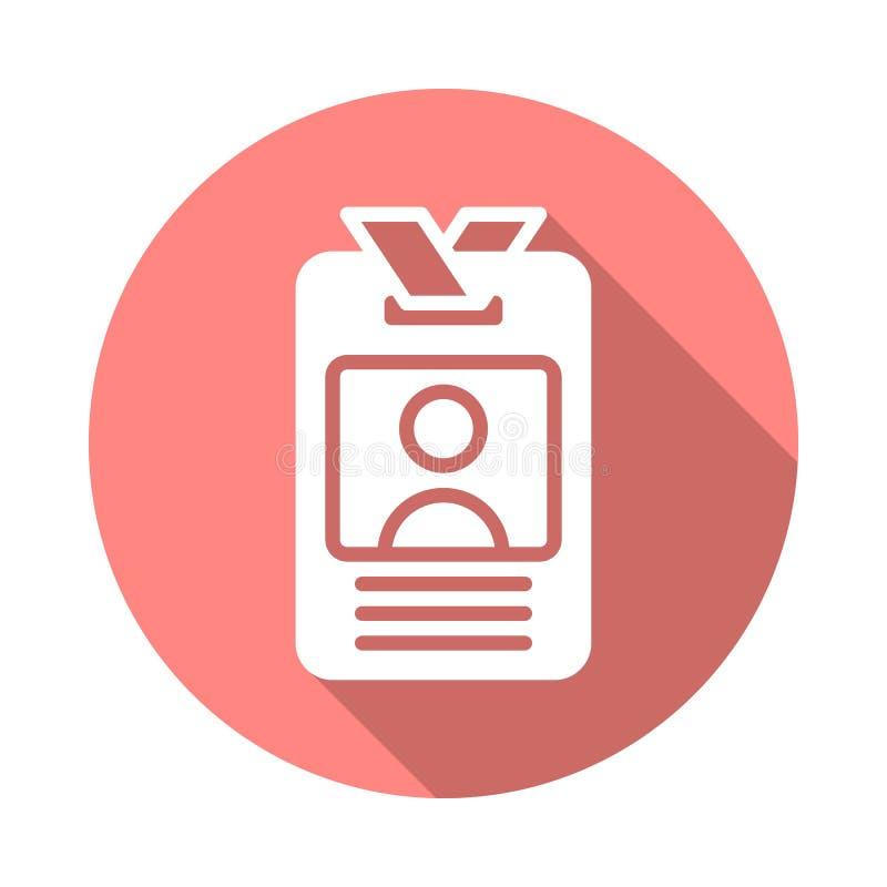 Användare - symbol för ID-emblemlägenhet stock illustrationer