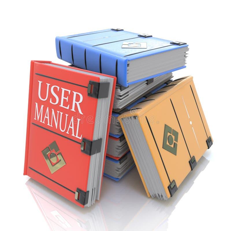 Användarehandbokböcker stock illustrationer