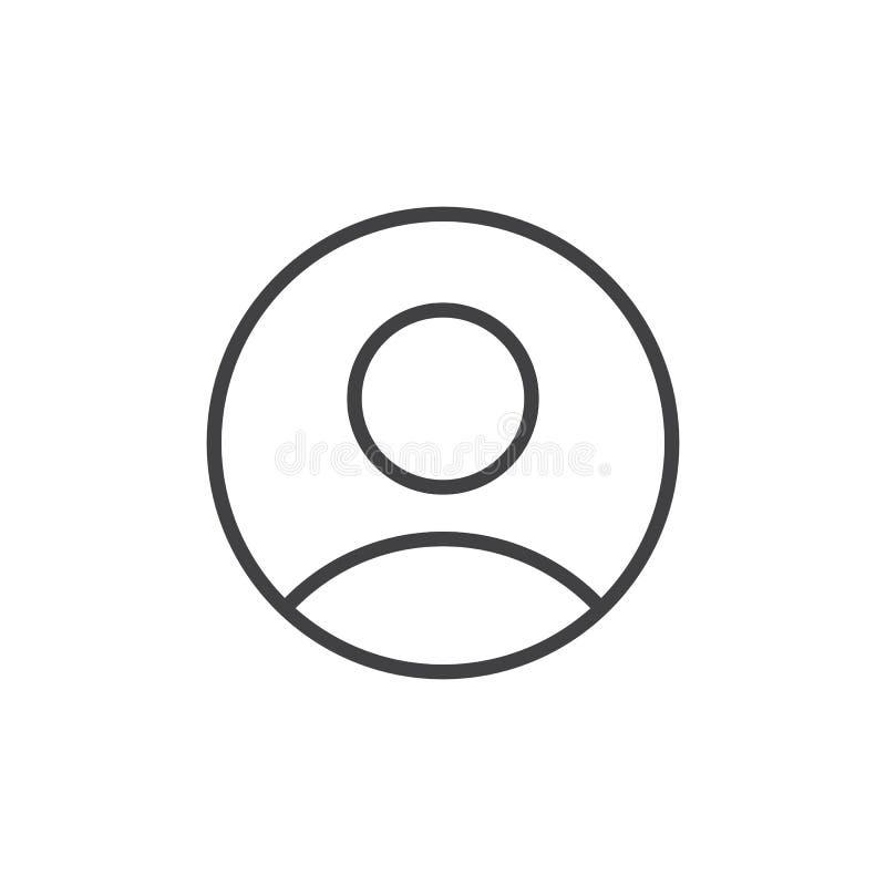Användarepersonlinje symbol royaltyfri illustrationer