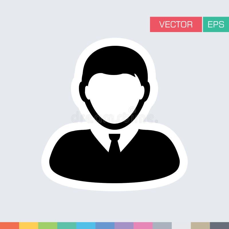 Användaresymbol - man, människa, Person Profile Avatar Vector vektor illustrationer