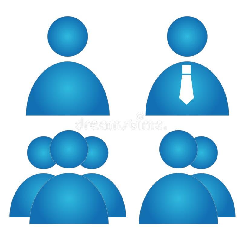 Användaresymbolsuppsättning stock illustrationer