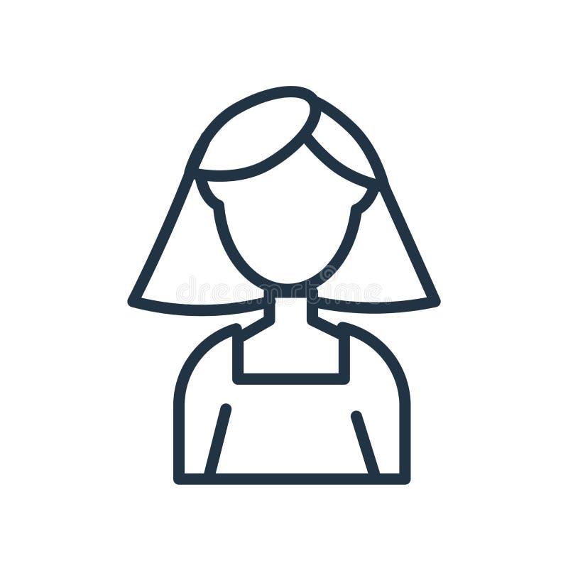 Användaresymbolsvektor som isoleras på vit bakgrund, användaretecken royaltyfri illustrationer