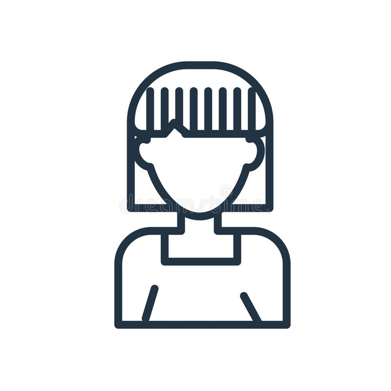 Användaresymbolsvektor som isoleras på vit bakgrund, användaretecken stock illustrationer