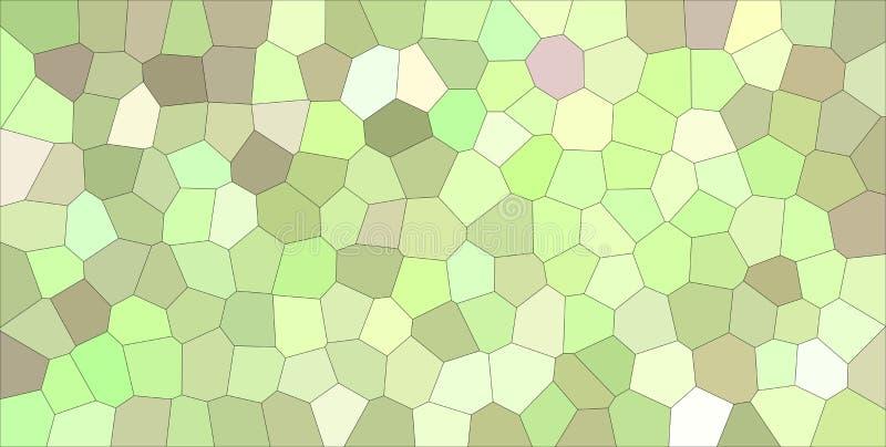 Användbar abstrakt illustration av den gröna, bruna och purpurfärgade ljusa mellersta formatsexhörningen Bra bakgrund för din des royaltyfri illustrationer