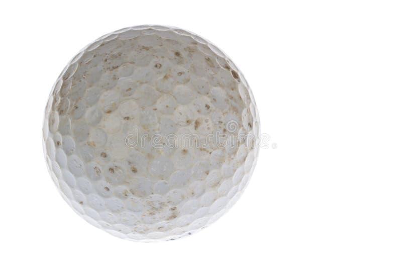 Använde en smutsig golfboll arkivfoto