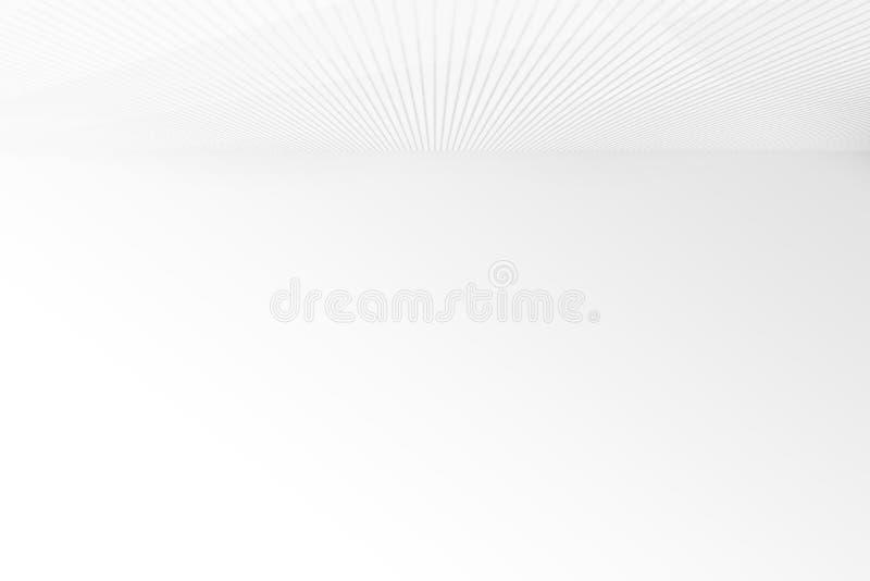 Använder den gråa lutningen för den tomma runda remsan med den svarta fasta väggen för karaktärsteckningbelysningstudion och golv vektor illustrationer