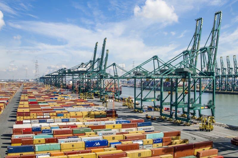 Anvers, Belgique - 17 septembre 2017 : journées 'portes ouvertes' dans le port d'Antwe image libre de droits