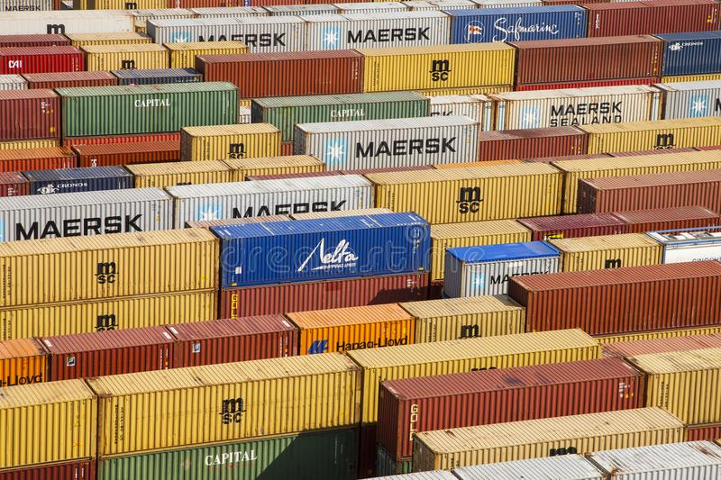 Anvers, Belgique - 17 septembre 2017 : journées 'portes ouvertes' dans le port d'Antwe photos stock
