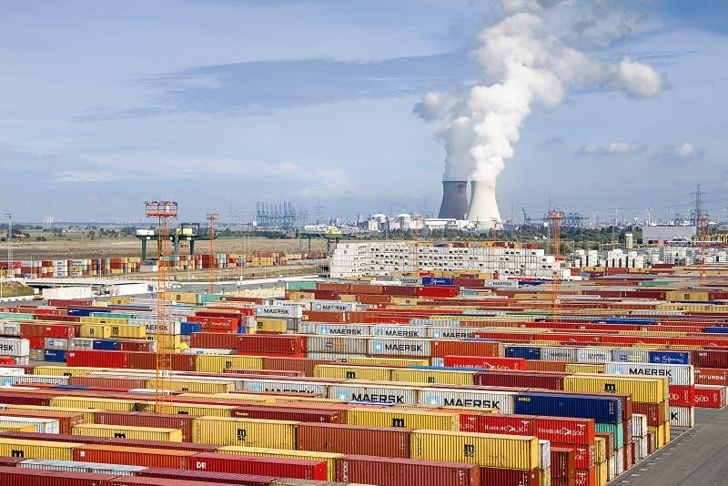 Anvers, Belgique - 17 septembre 2017 : journées 'portes ouvertes' dans le port d'Antwe images libres de droits