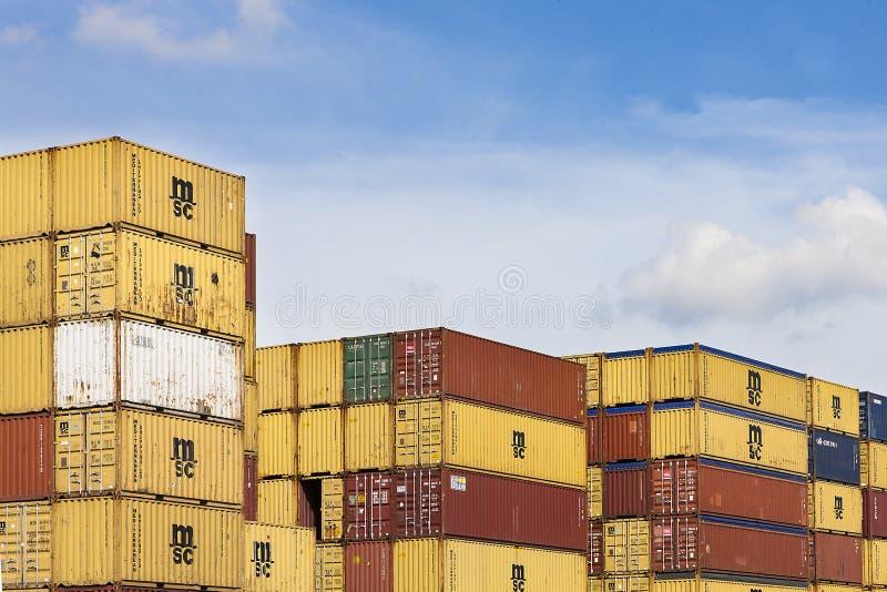 Anvers, Belgique - 17 septembre 2017 : journées 'portes ouvertes' dans le port d'Antwe photographie stock libre de droits