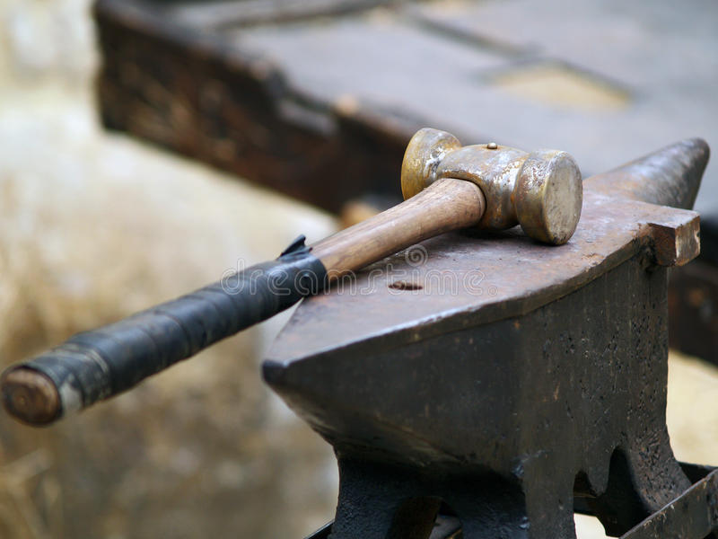 Download Anvil and hammer stock photo. Image of medieval, fashioned - 27234086