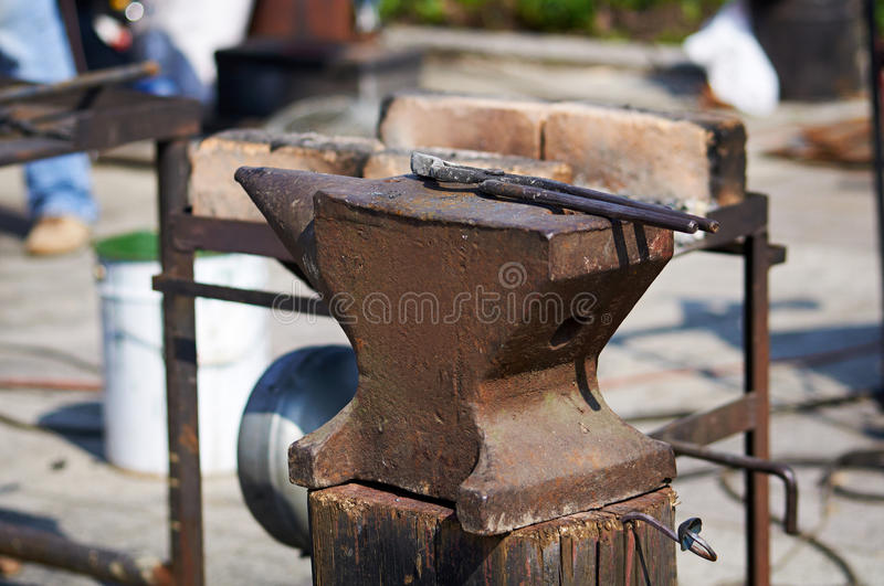 Download Anvil and tongs. stock photo. Image of blacksmith, work - 31087714