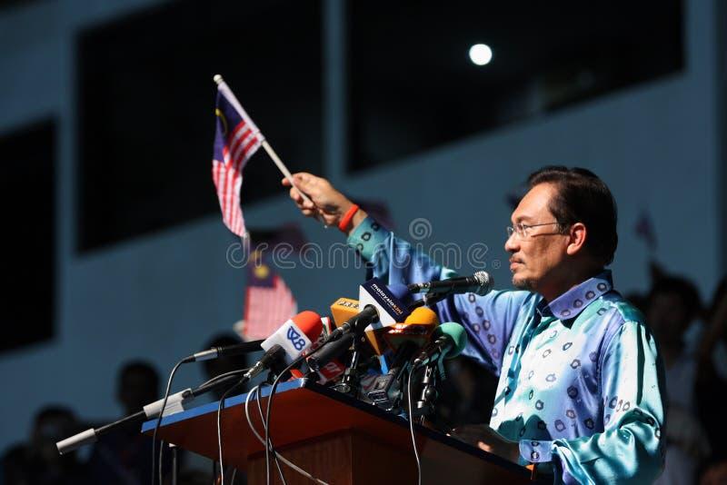 anwar daje Ibrahim malezyjskiej wystąpieniu polityk, zdjęcia stock